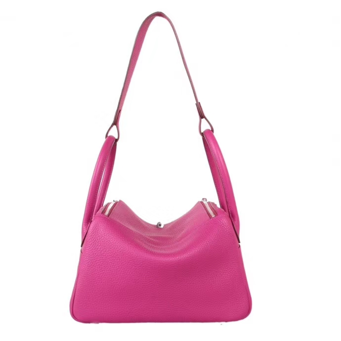 Hermès(爱马仕)Lindy琳迪包 玫瑰紫 银扣 30CM