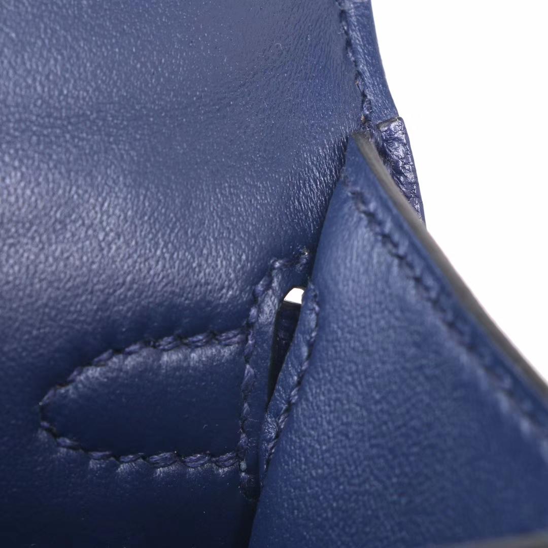 Hermès(爱马仕)mini Kelly 迷你凯莉 宝石蓝 原厂御用羊皮 金扣 二代