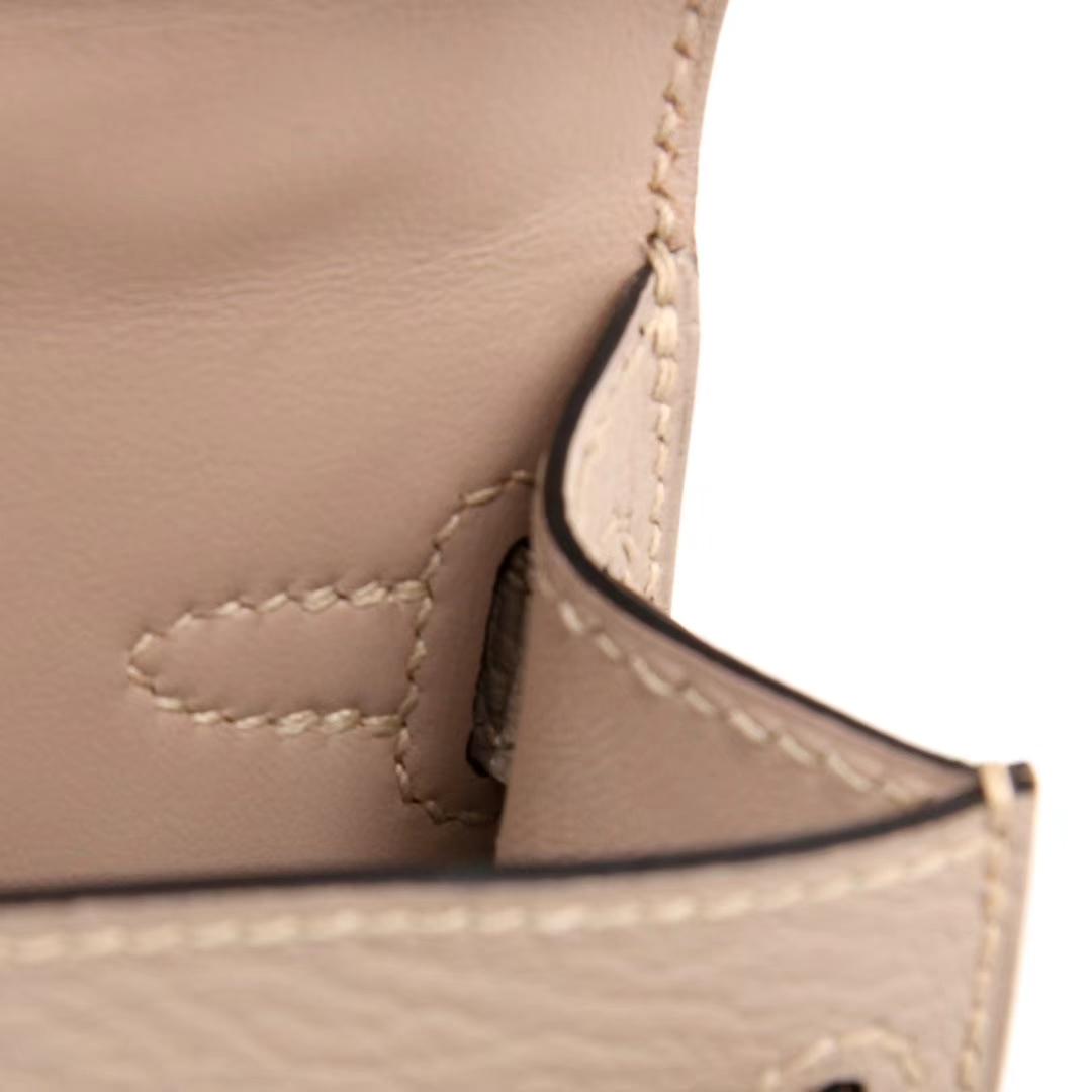 Hermès(爱马仕)mini Kelly 迷你凯莉 斑鸠灰 羊皮 银扣 二代