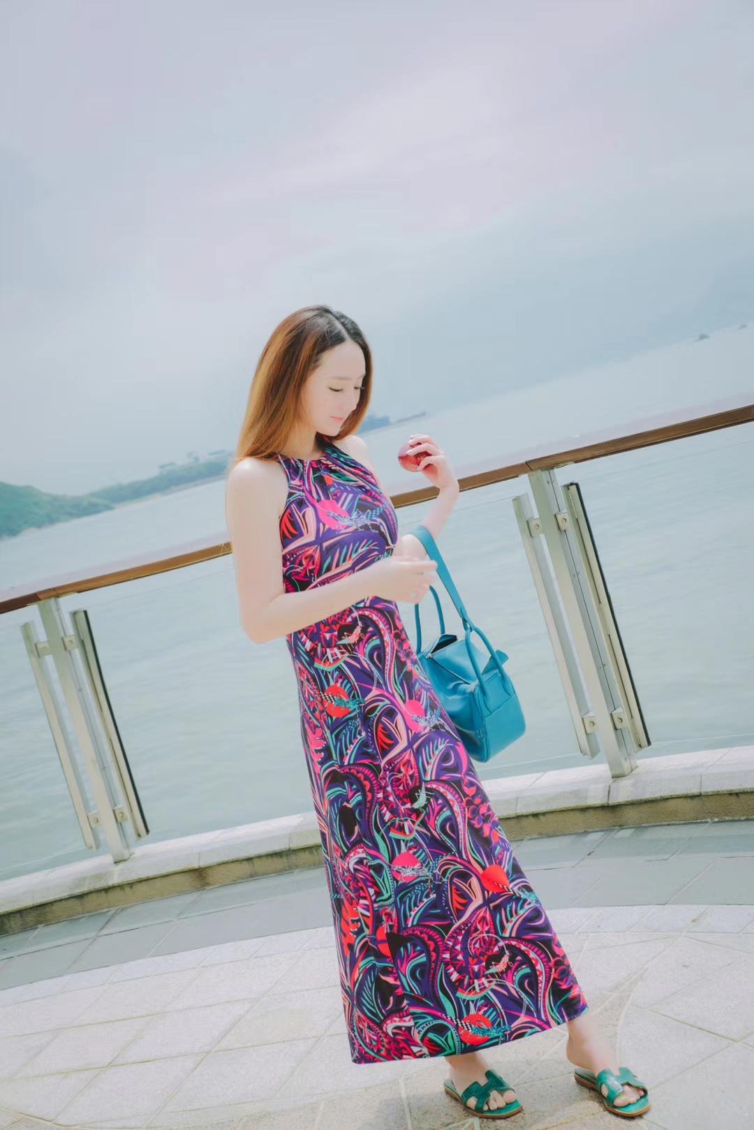 Hermès(爱马仕)Lindy琳迪包 水妖蓝 银扣 30CM