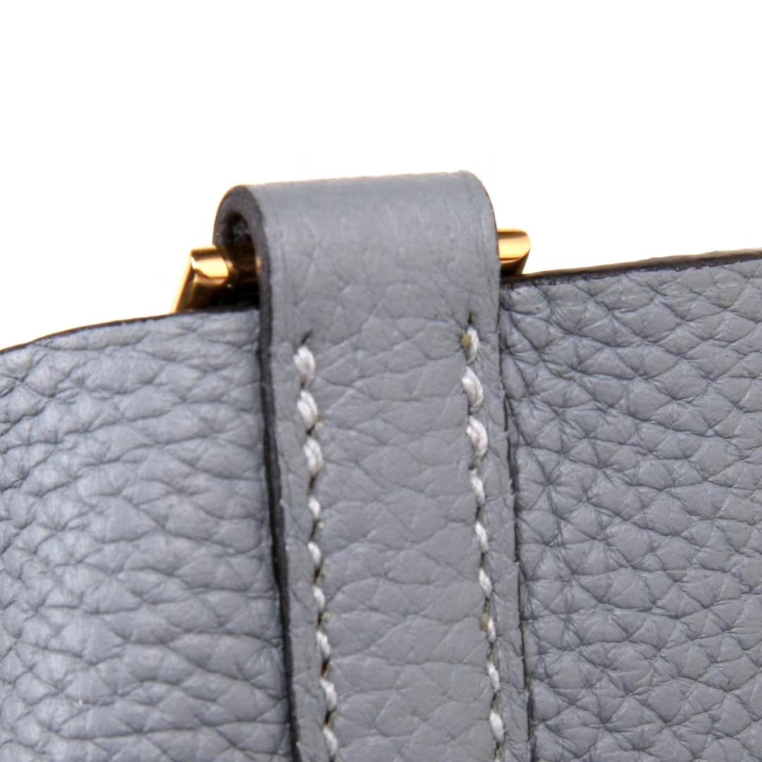 Hermès(爱马仕)Picotin菜篮包 亚麻蓝 togo 金扣 26cm
