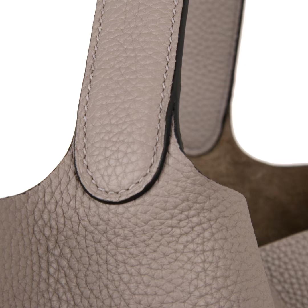 Hermès(爱马仕)Picotin菜篮包 沥青灰 togo 银扣 26cm