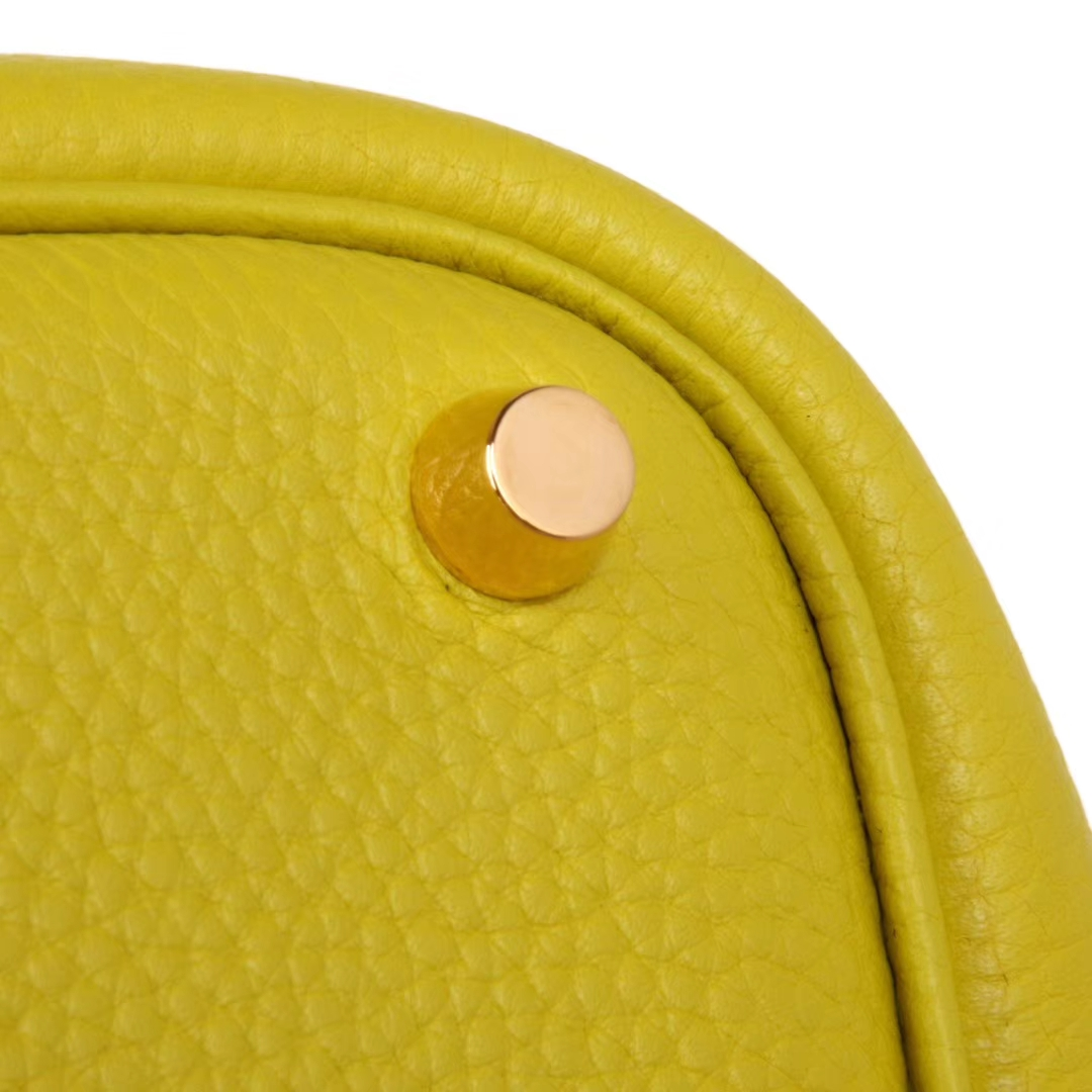 Hermès(爱马仕)Picotin菜篮包 柠檬黄 togo 金扣 26cm