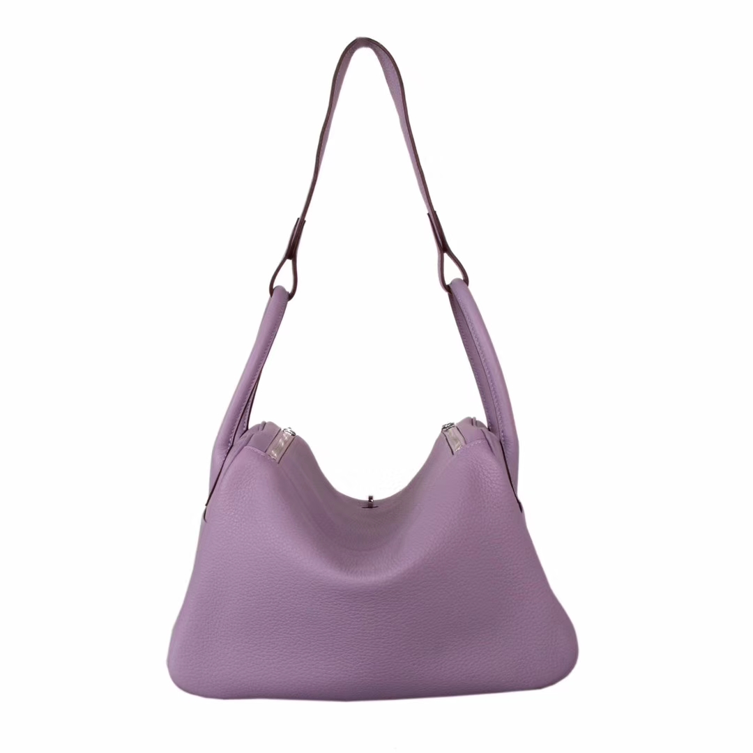Hermès(爱马仕)Lindy琳迪包 香芋紫 银扣 Togo 30CM