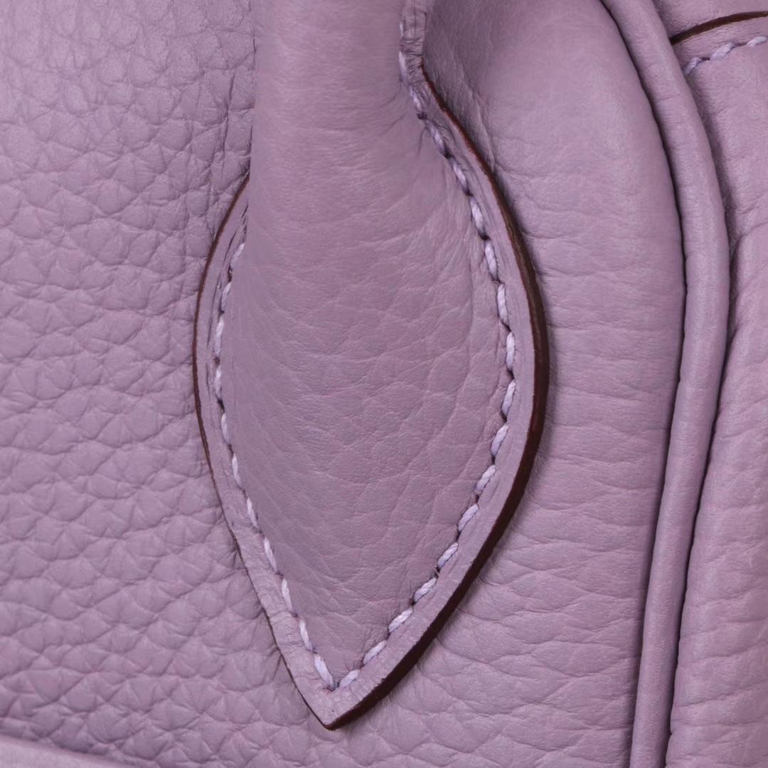 Hermès(爱马仕)Lindy琳迪包 电光蓝 银扣 Togo 30CM