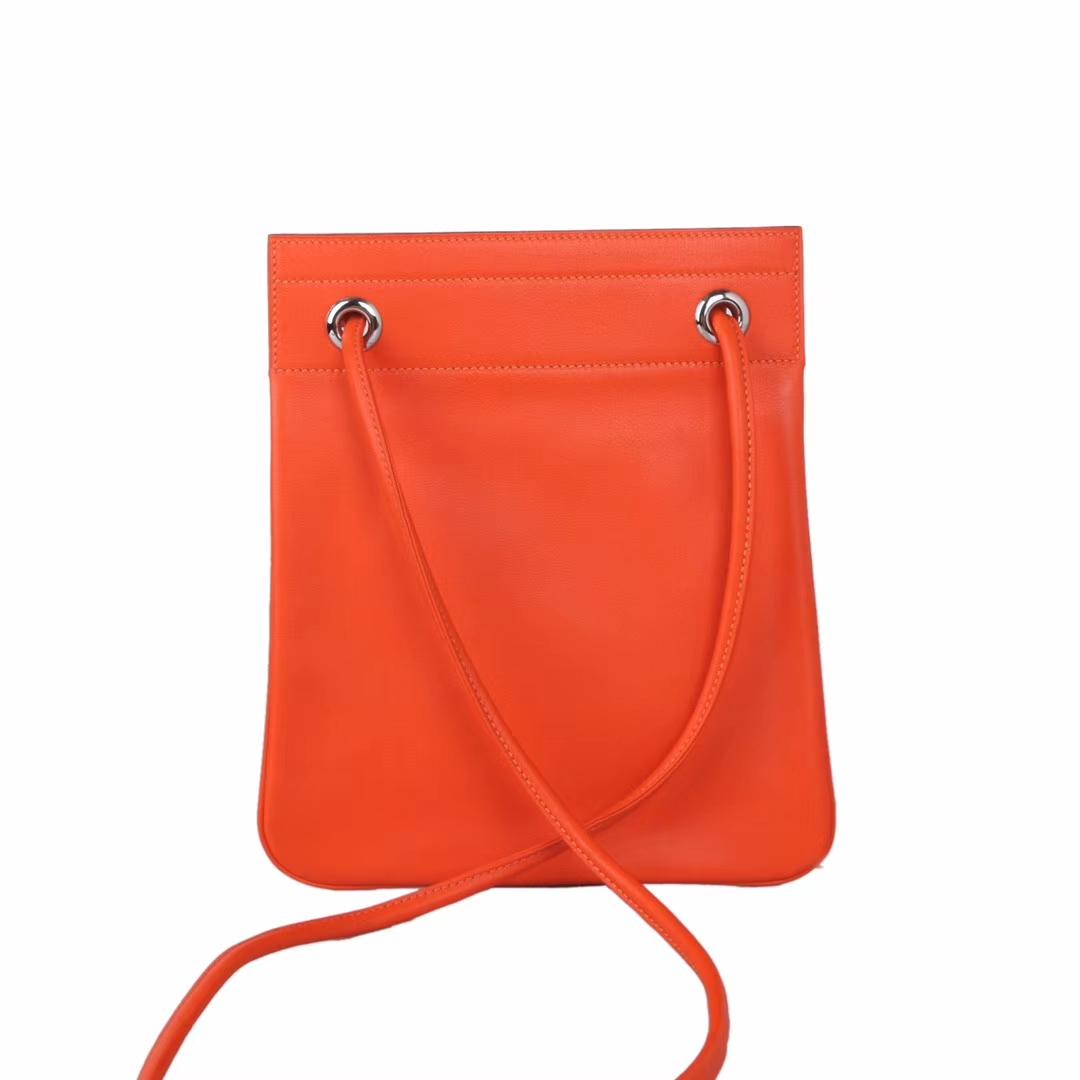 Hermès(爱马仕)Aline Ⅱ 艾琳包 经典橙色 原厂御用swift皮 18cm