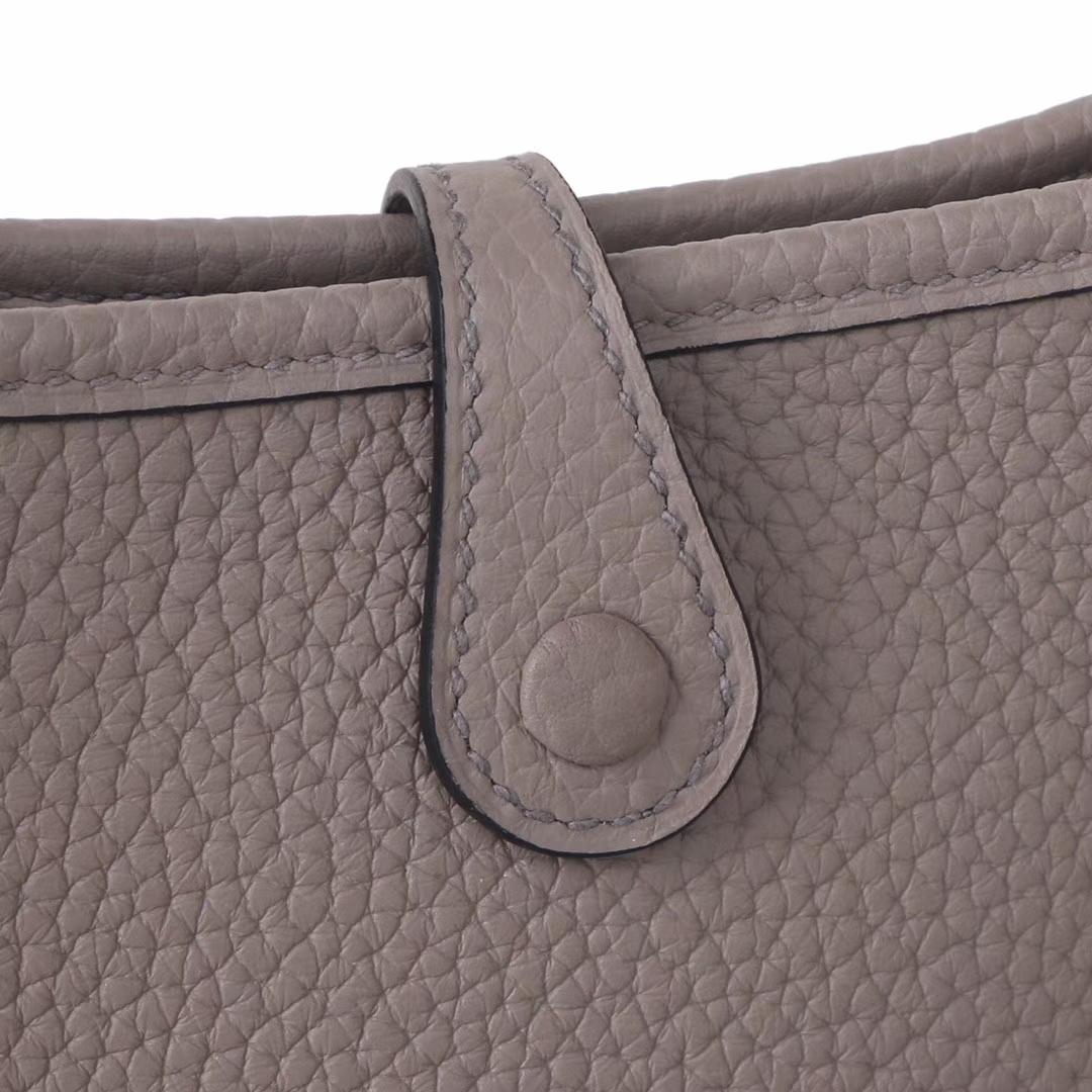 Hermès(爱马仕)Mini Evelyne 沥青灰 togo 17cm