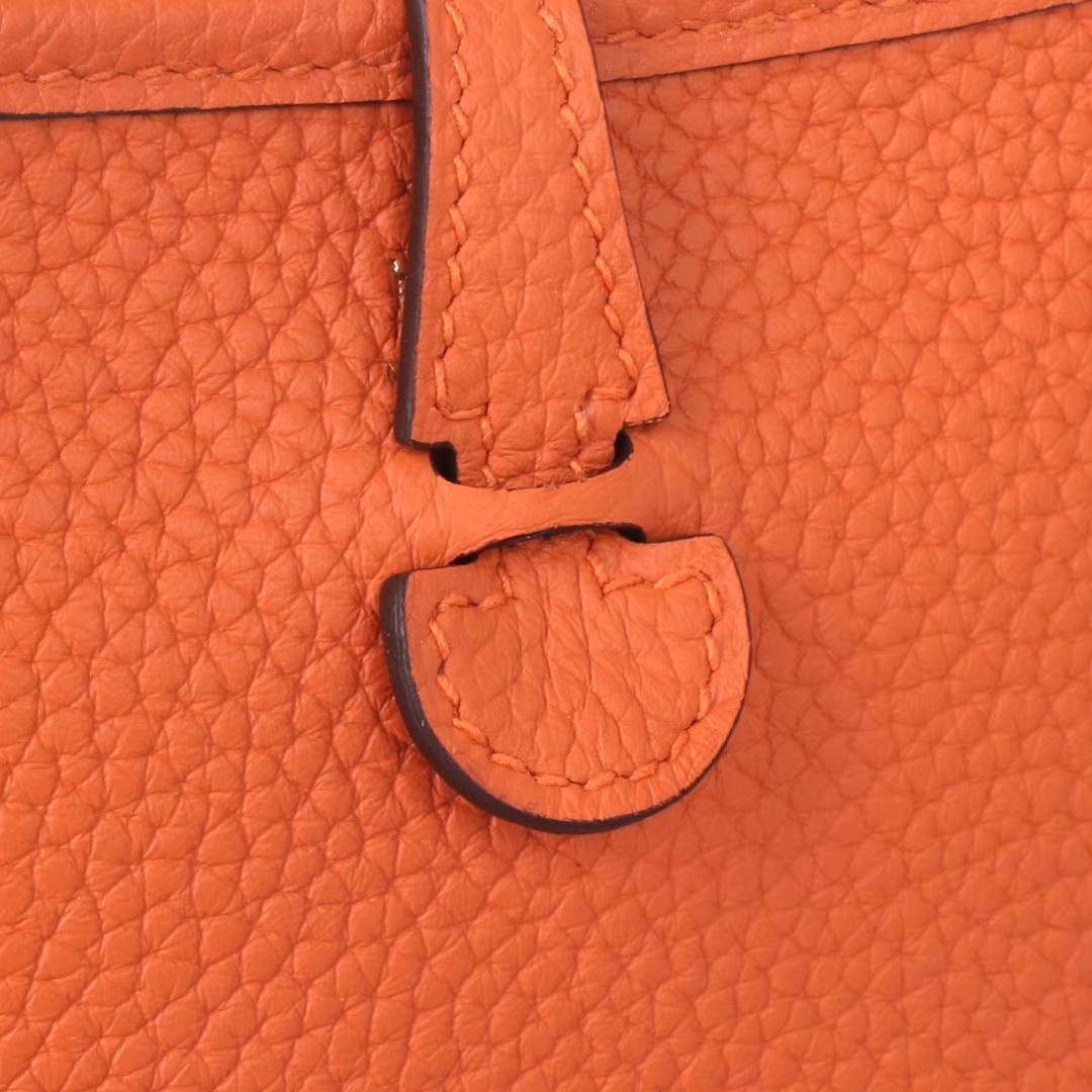 Hermès(爱马仕)Mini Evelyne 橙色 togo 17cm