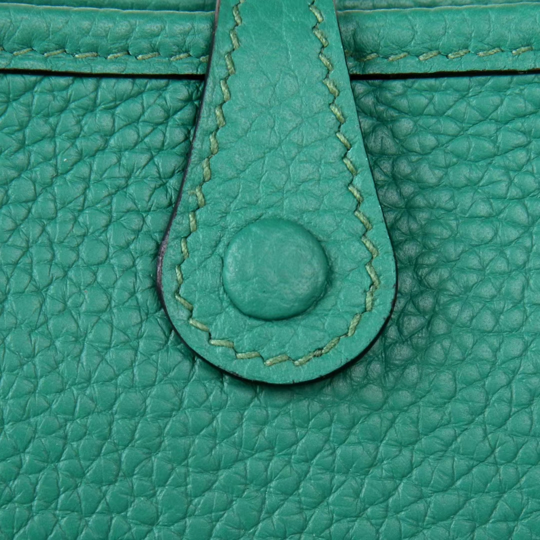 Hermès(爱马仕)Mini Evelyne 丝绒绿 togo 17cm