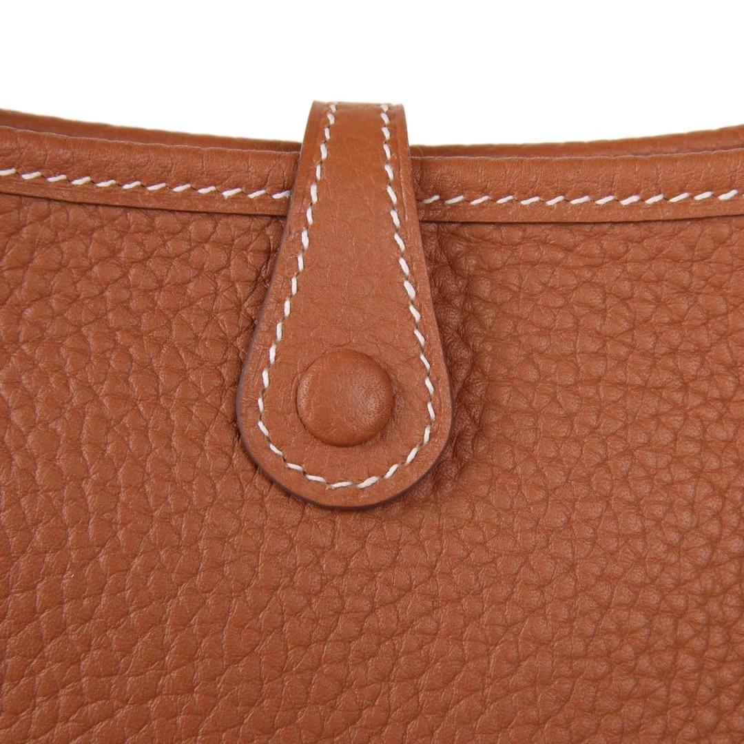 Hermès(爱马仕)Mini Evelyne 金棕色 togo 17cm