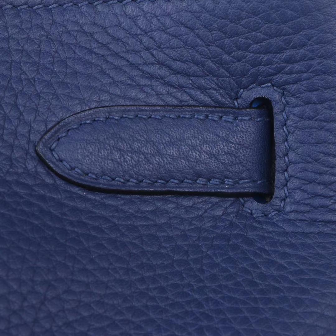 Hermès(爱马仕)soKelly 22银 宝石蓝内拼水妖蓝 togo