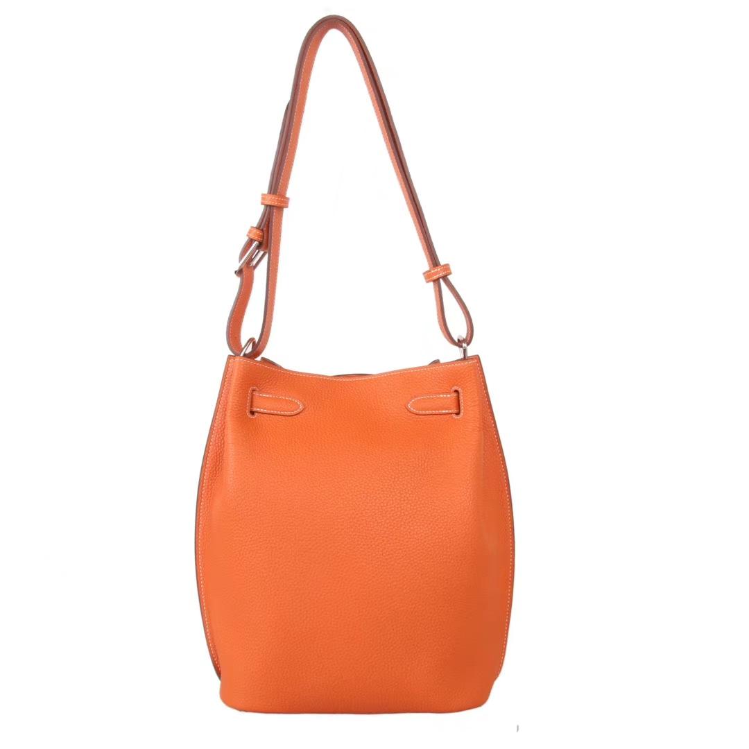 Hermès(爱马仕)soKelly 22银扣  橙色  togo