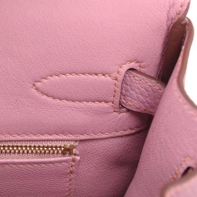 Hermès(爱马仕)新色严选 birkin铂金包 X9锦葵紫 togo 金扣 30cm