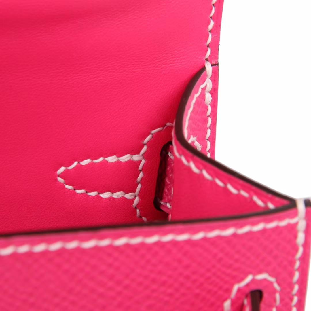 Hermès(爱马仕)mini Kelly 迷你凯莉 糖果粉 金扣 原厂Epsom皮 二代