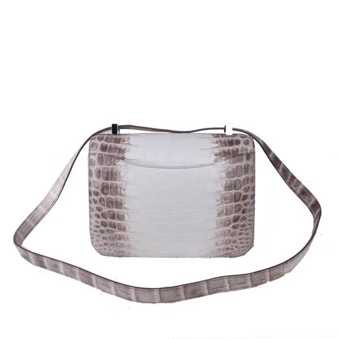 Hermès(爱马仕)Constace 空姐包 喜马拉雅 尼罗鳄 银扣 23cm