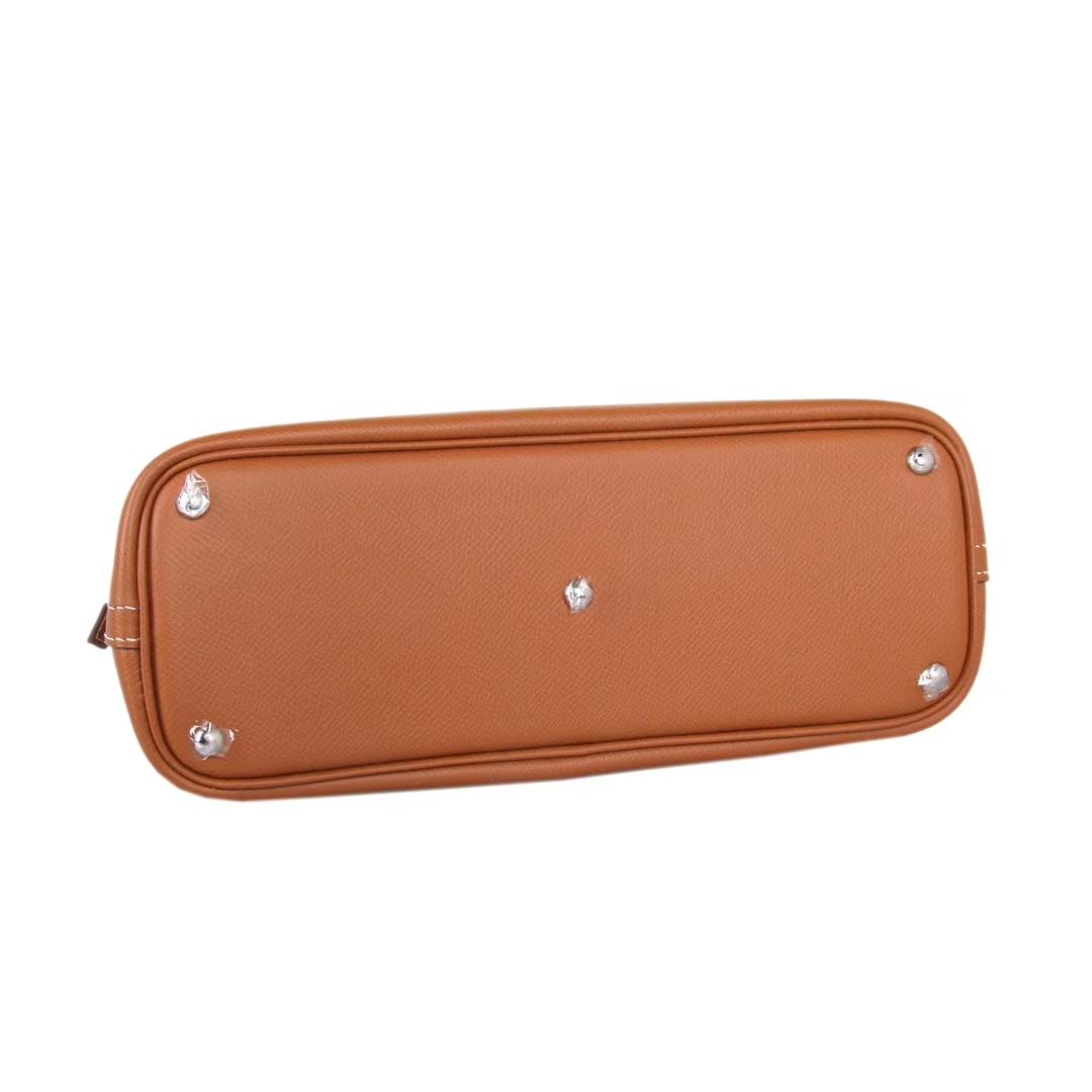 Hermès(爱马仕)bolid保龄球 金棕色 原厂御用Epsom皮 28cm