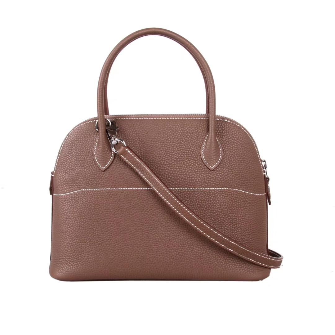 Hermès(爱马仕)bolid保龄球 大象灰 原厂御用Epsom皮 28cm