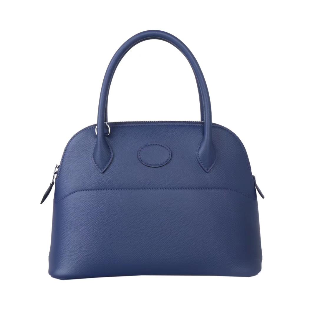 Hermès(爱马仕)bolid保龄球 宝石蓝 原厂御用Epsom皮 28cm