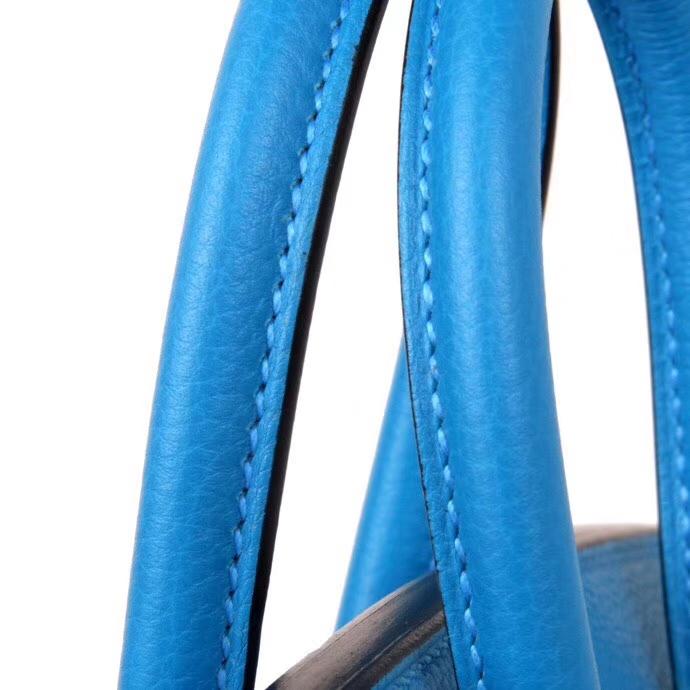 Hermès(爱马仕)Birkin 铂金包 B3坦桑尼亚蓝 togo 银扣 30cm