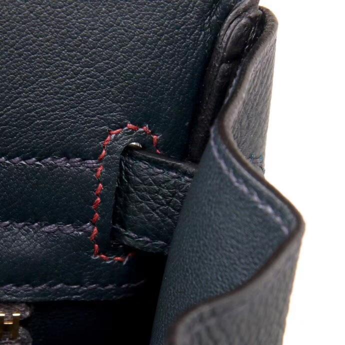 Hermès(爱马仕)Birkin 铂金包 石榴红拼墨绿 togo 金扣 30cm