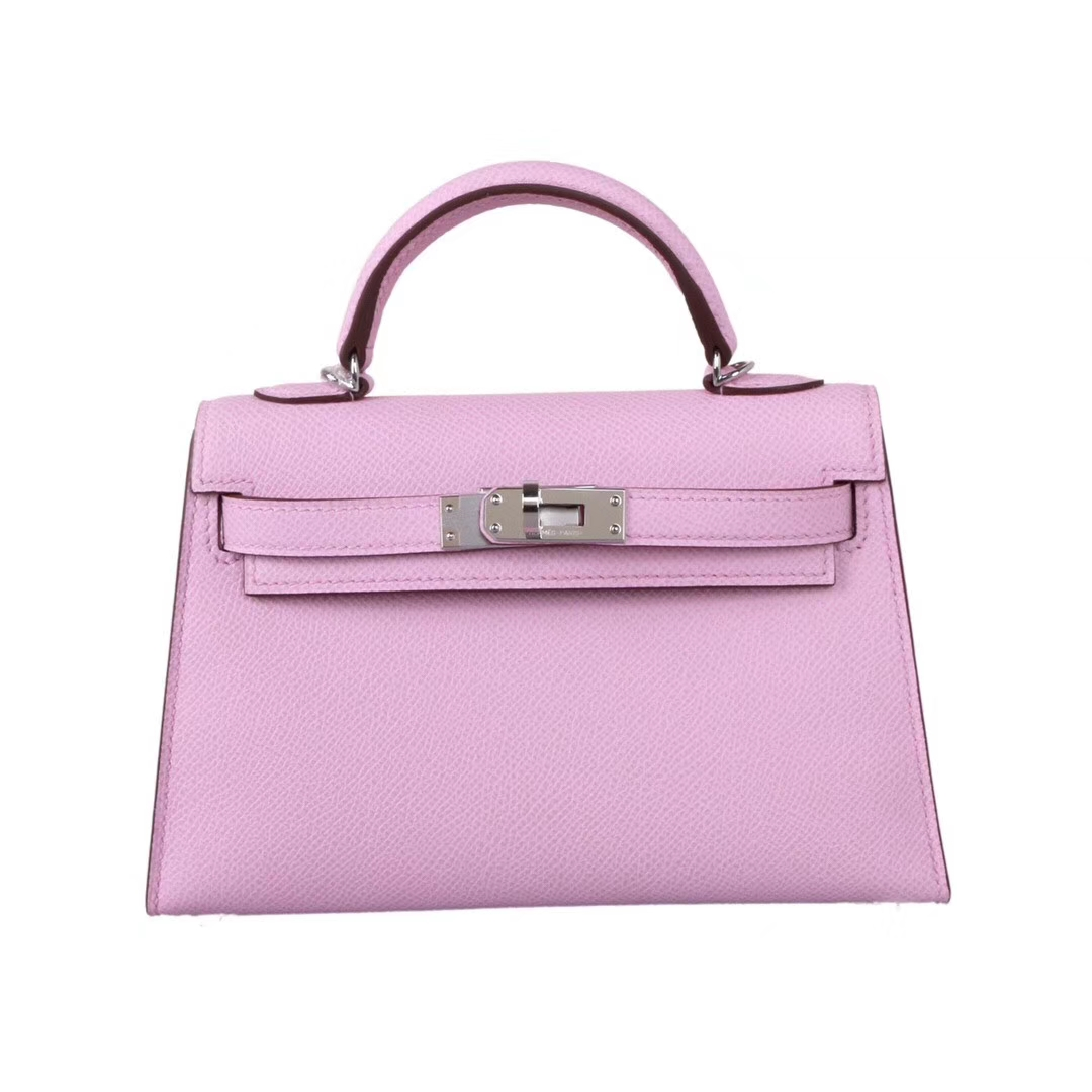 Hermès(爱马仕)Minikelly 迷你凯莉 锦葵紫 银扣 原厂御用Epsom皮 1代