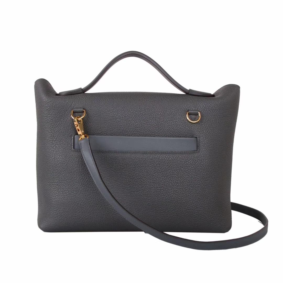 Hermès(爱马仕)Kelly24248F锡器灰 金扣 29cm