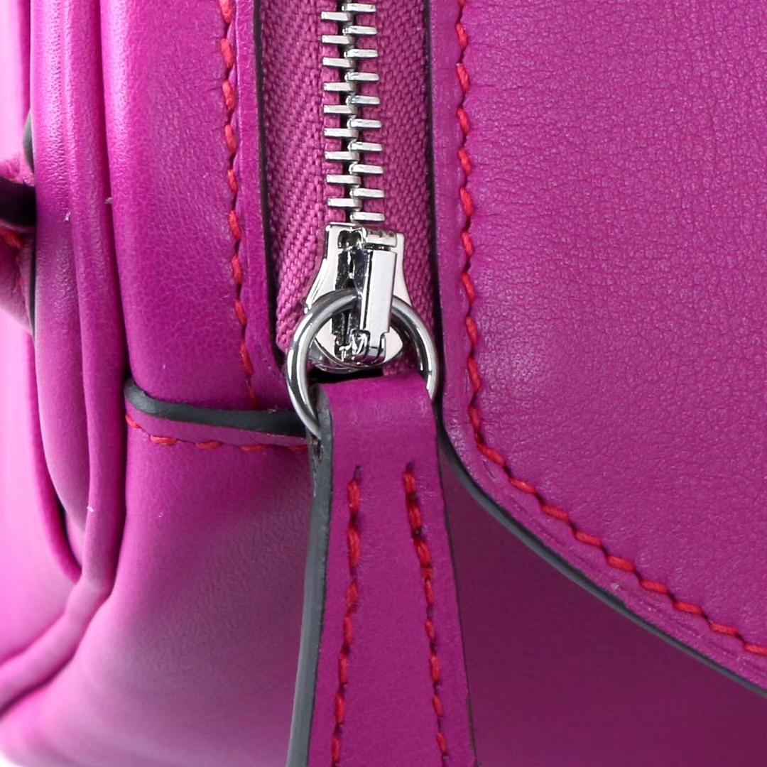 Hermès(爱马仕)2019新款 Lindy 琳迪包 L3玫瑰紫 编织肩带 原厂御用swift皮 银扣 26cm