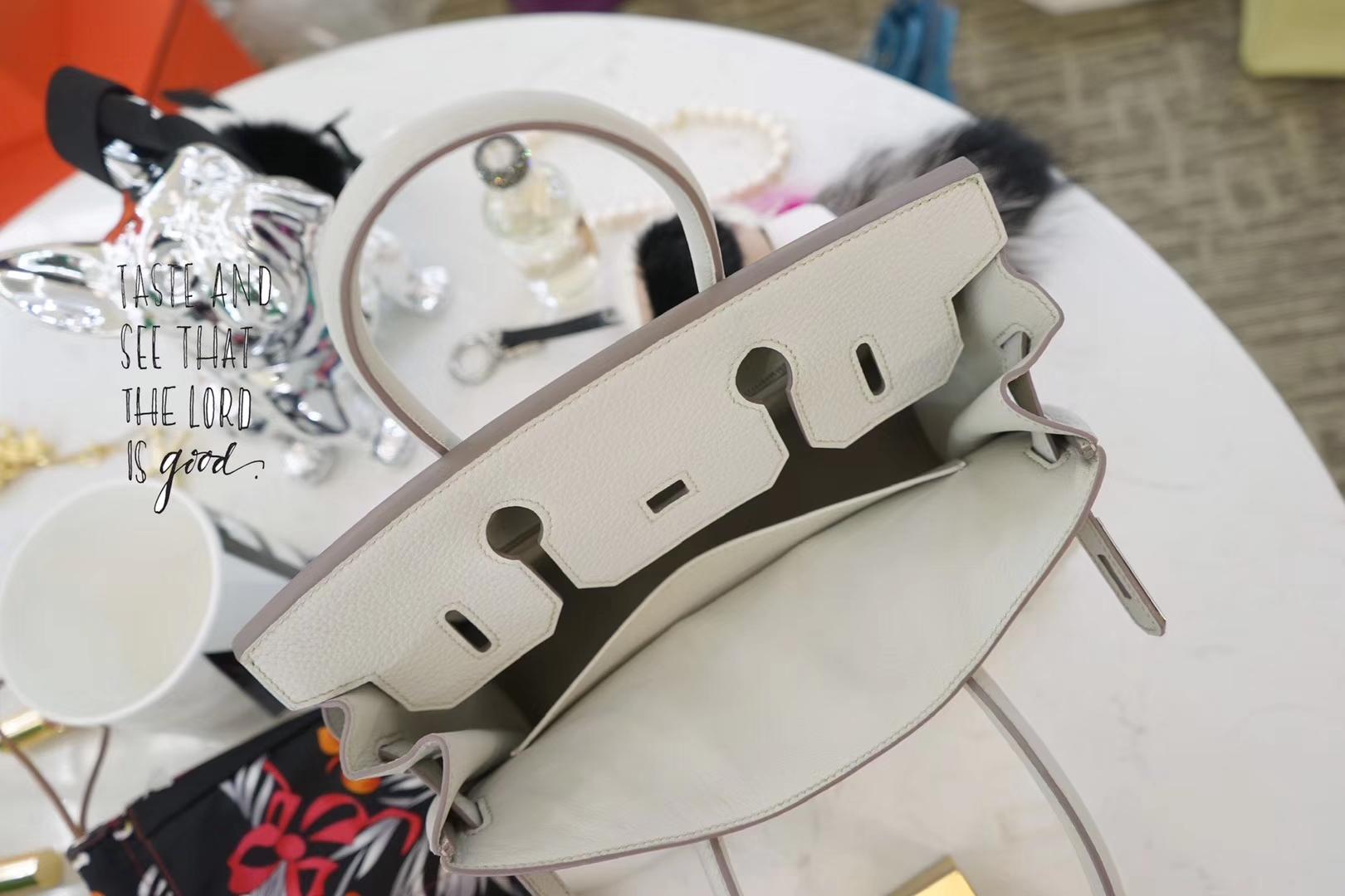 Hermès(爱马仕)Birkin 铂金包 珍珠灰  togo 银扣 30cm