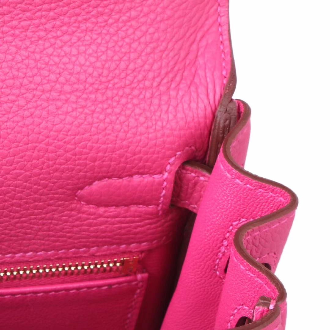 Hermès(爱马仕)kelly 凯莉包 托斯卡紫 Togo 金扣 28cm