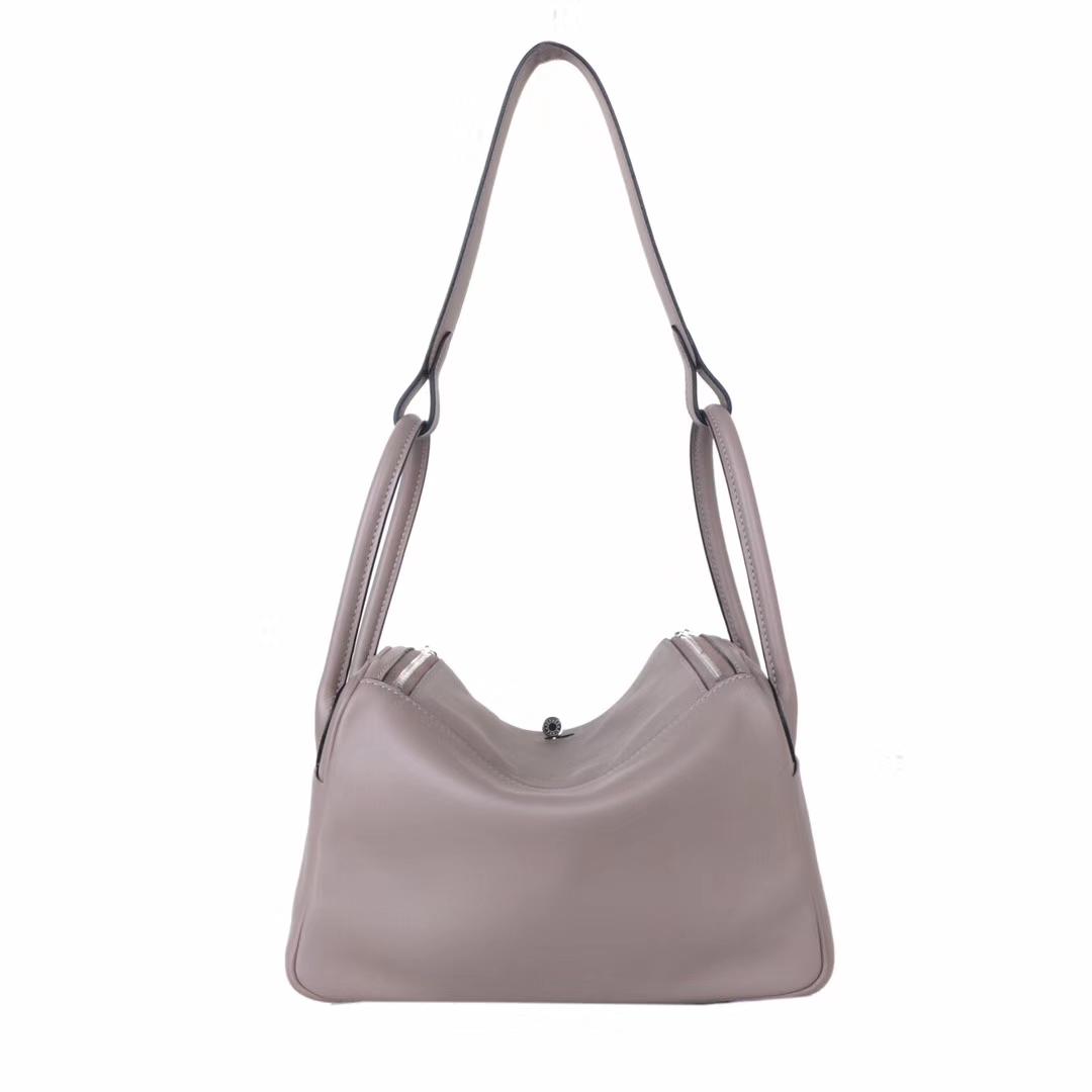 Hermès(爱马仕)lindy 琳迪包 M8沥青灰 swift皮 银扣 26cm