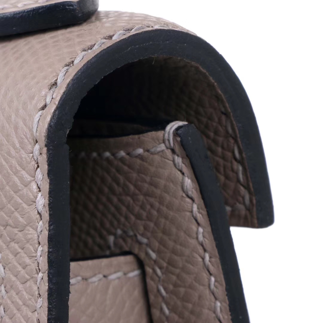 Hermès(爱马仕)miniKelly 一代 22cm 沥青灰 金扣 Epsom皮