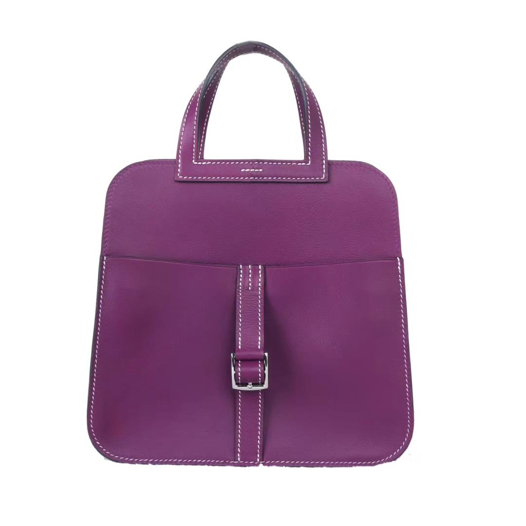 Hermès(爱马仕)Mini halzan 海葵紫 swift皮 30cm