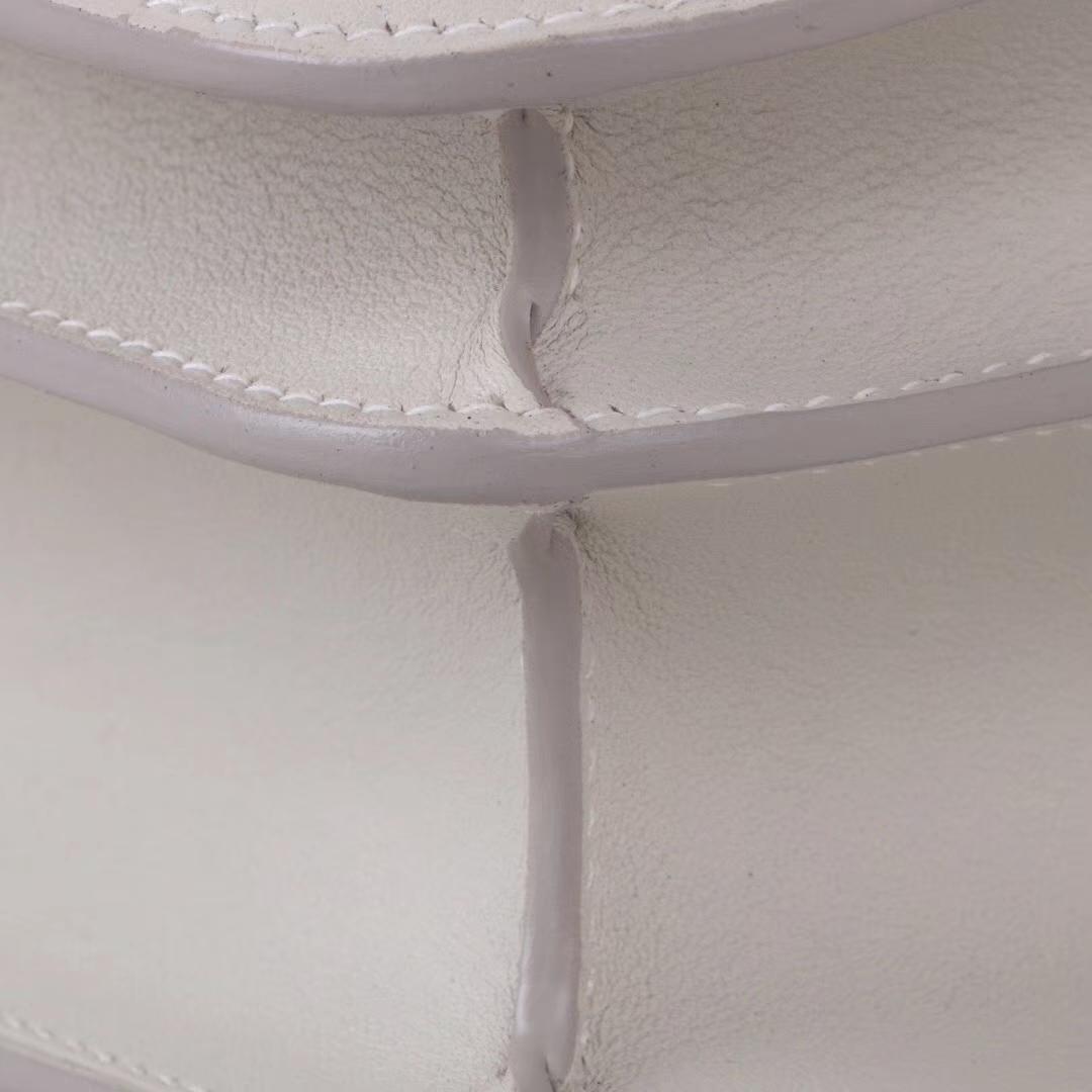Hermès(爱马仕)Constace空姐包 80珍珠灰 swift皮 金扣 19cm