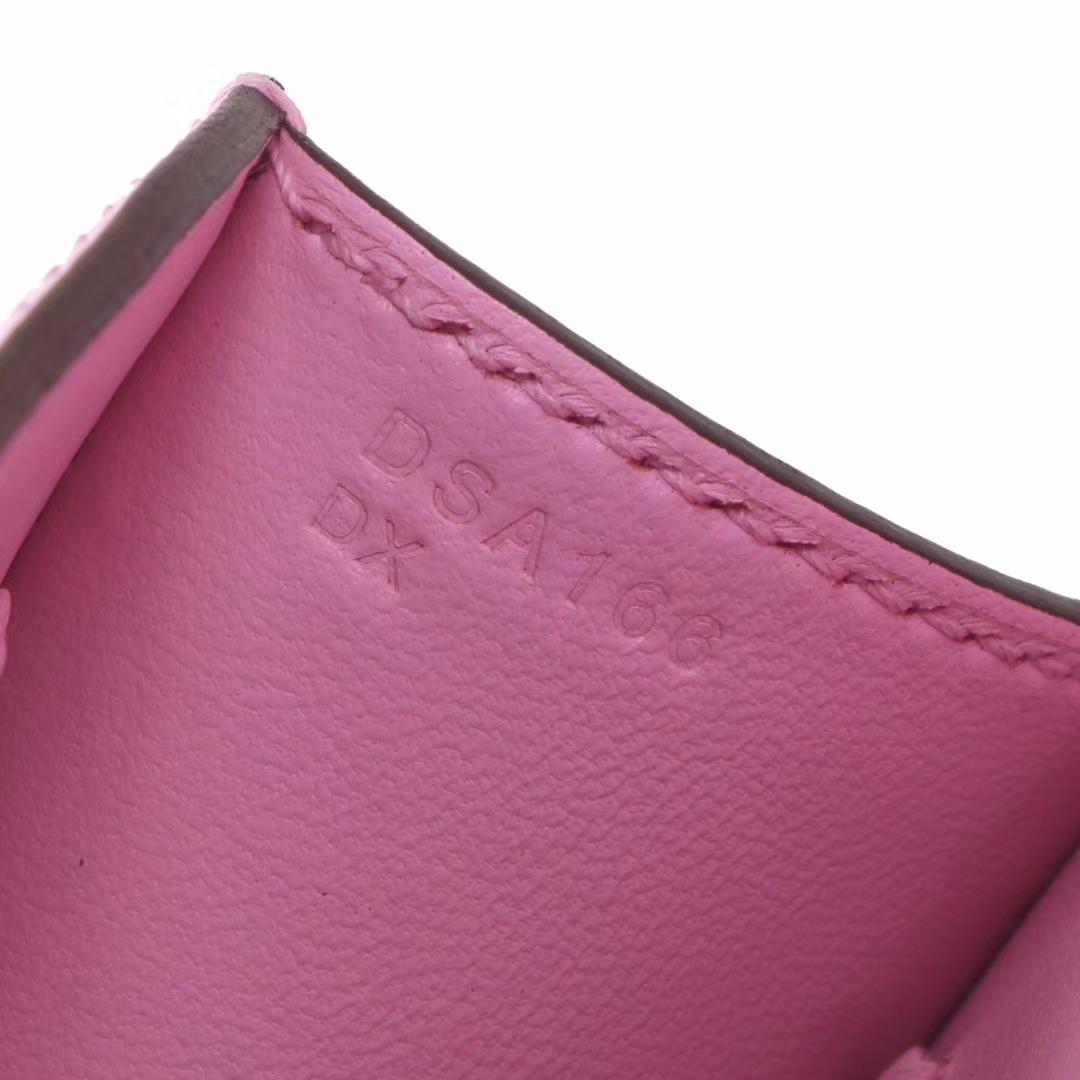 Hermès(爱马仕)Constance mini 迷你空姐包 X9锦葵紫 epsom皮 金扣 14cm