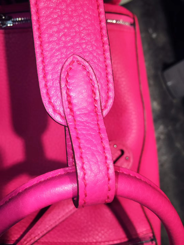Hermès(爱马仕)Lindy 30CM 芍药红 银扣 Togo