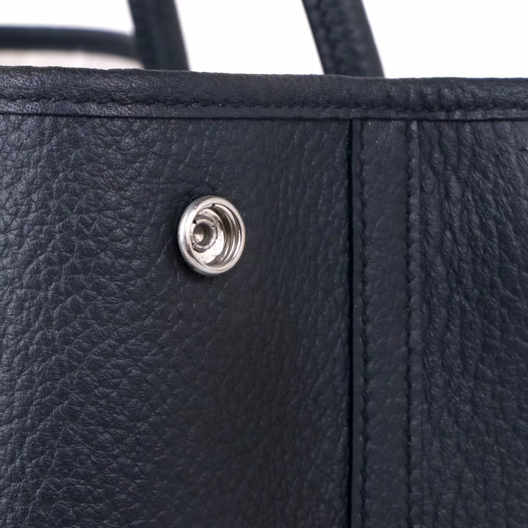 Hermès(爱马仕)garden party花园包 黑色 togo 银扣 36cm