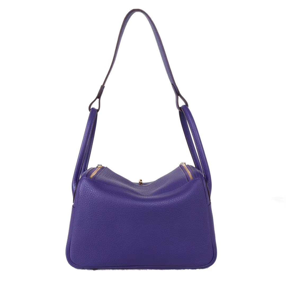 Hermès(爱马仕)lindy 琳迪包 葡萄紫 togo 金扣 26cm