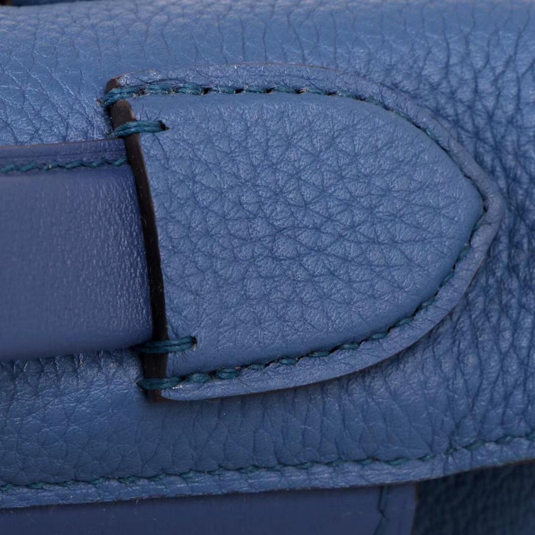 Hermès(爱马仕)Kelly2424 玛瑙蓝 Togo 银扣 29cm
