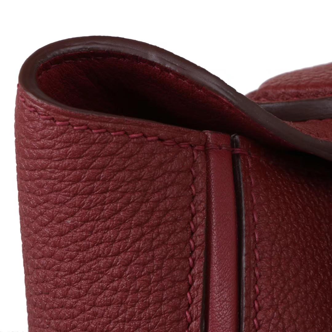 Hermès(爱马仕)Kelly2424 酒红色 Togo 金扣 29cm