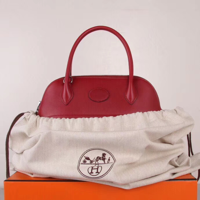 Hermès(爱马仕)Bolide 保龄球包 石榴红 swift皮