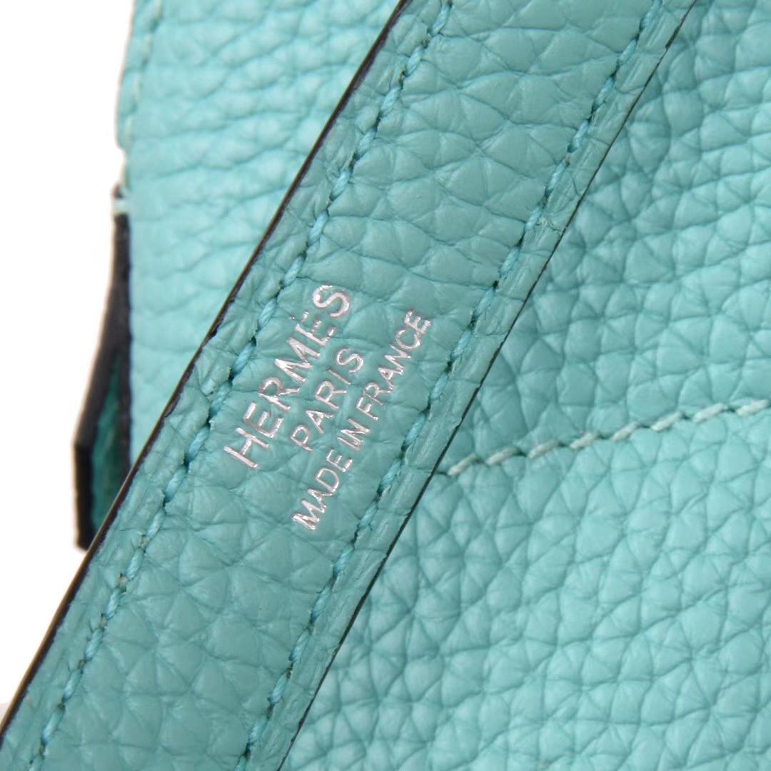 Hermès(爱马仕)Bolide 保龄球包 马卡龙蓝 togo