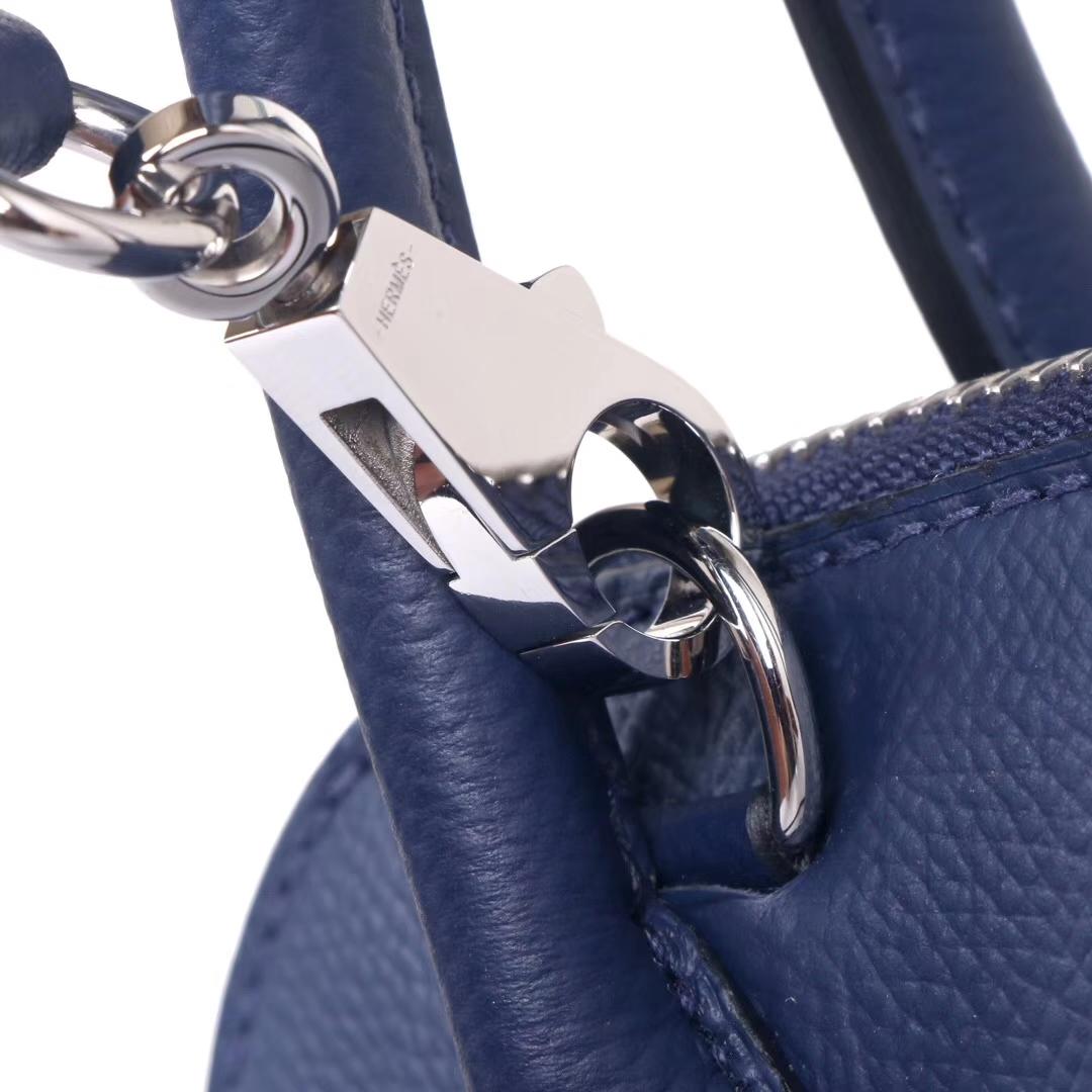 Hermès(爱马仕)Bolide 保龄球包 宝石蓝 epsom皮