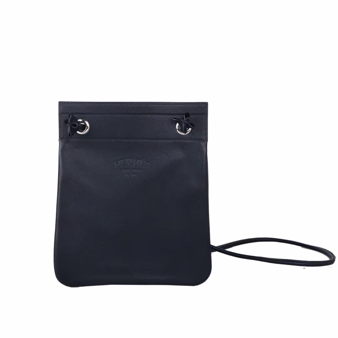 Hermès(爱马仕)Aline Ⅱ 艾琳包 黑色 swift皮 24cm
