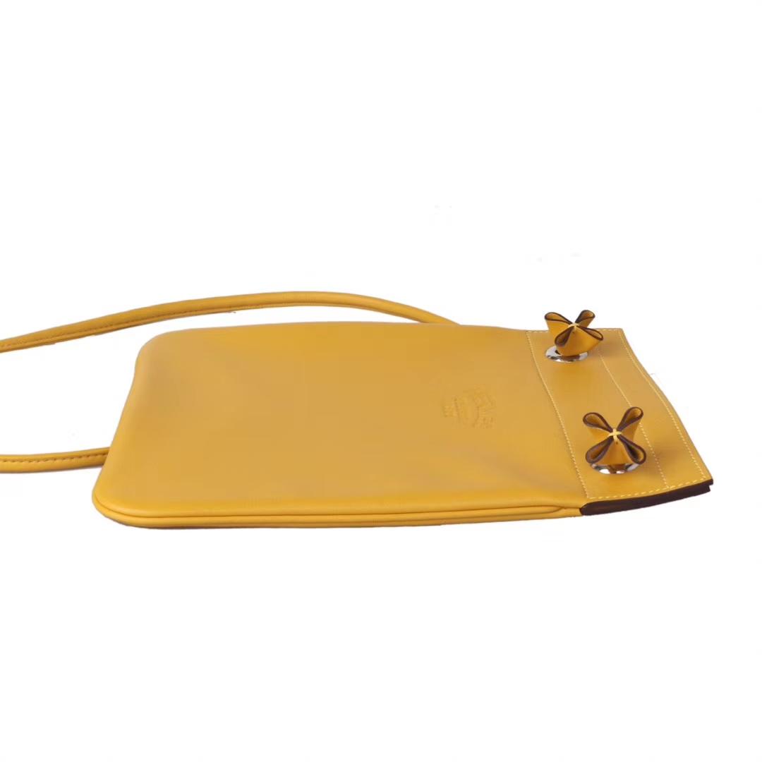 Hermès(爱马仕)Aline Ⅱ 艾琳包 9D琥珀黄 swift皮 24cm