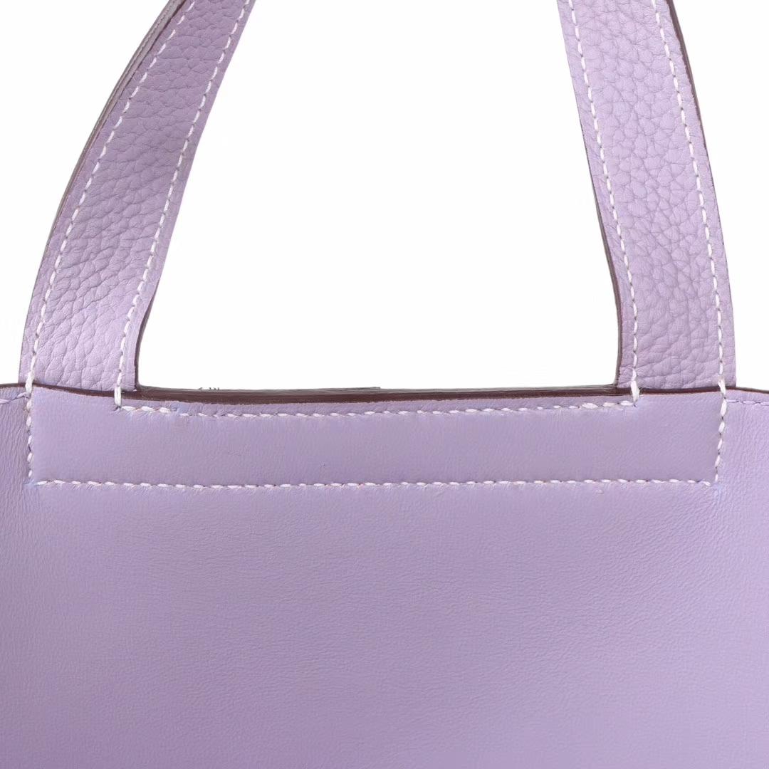 Hermès(爱马仕)Halzan 4W香芋紫 togo 银扣 31cm