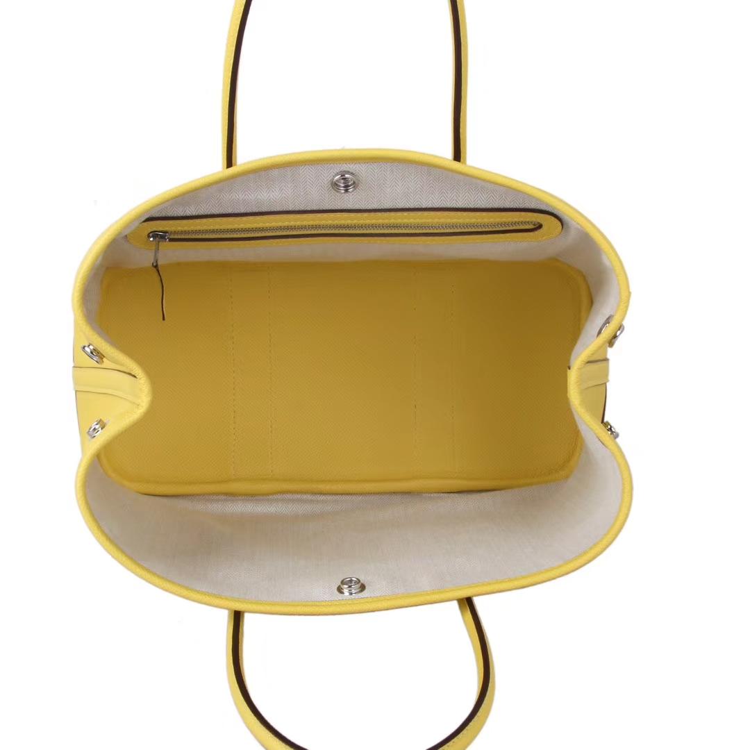 Hermès(爱马仕)Garden Party 花园包 9O那不勒斯黄 EPSOM 银扣 30cm
