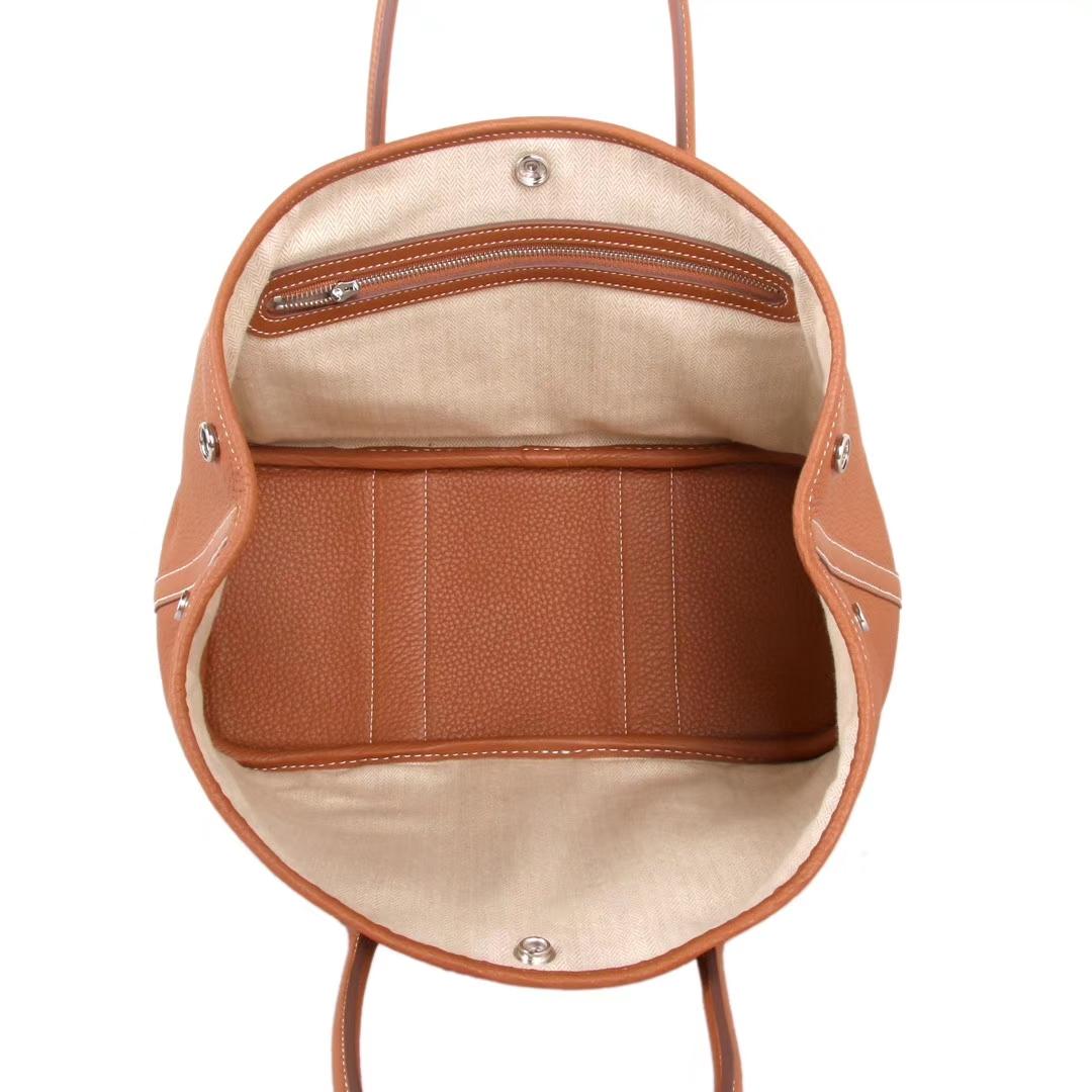 Hermès(爱马仕)Garden Party 花园包 金棕色 togo 银扣 30CM