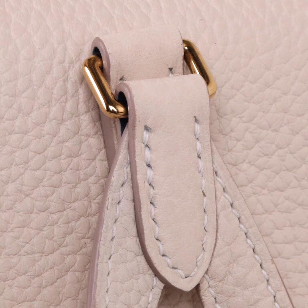 Hermès(爱马仕)kelly ado 双肩包 奶昔白 togo 金扣 22cm