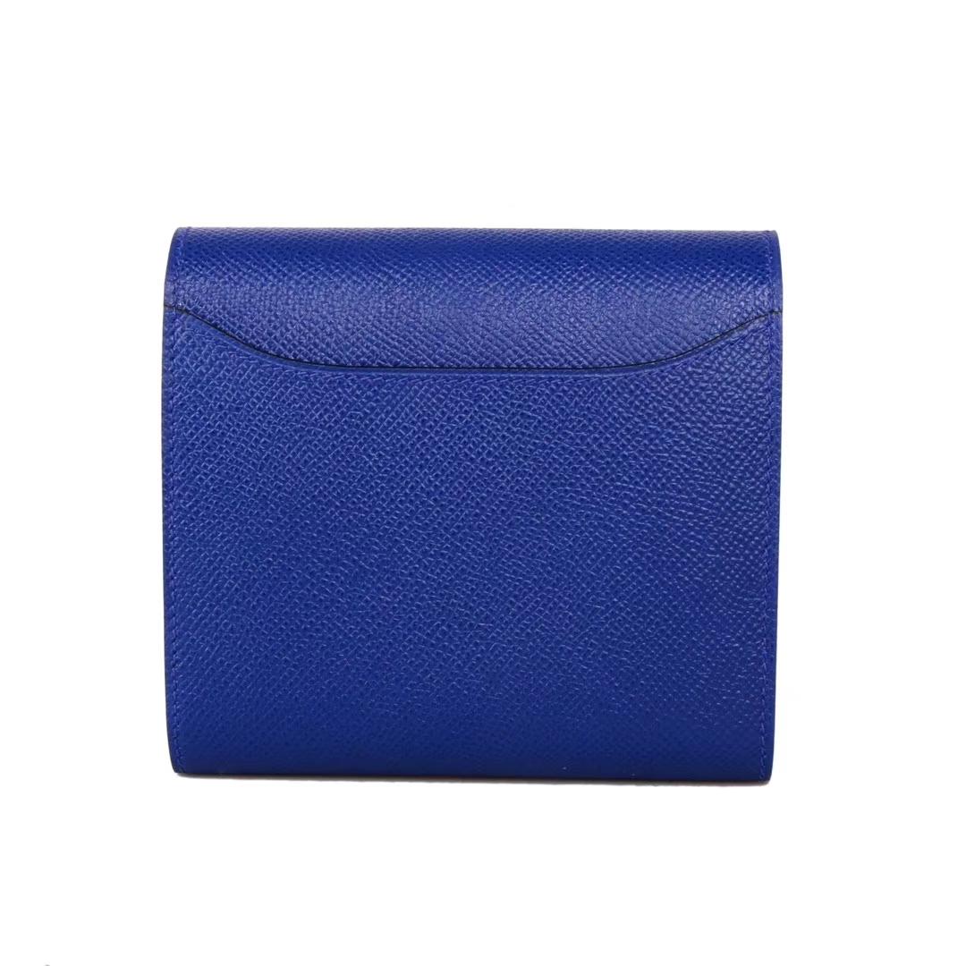 Hermès(爱马仕)小康短款钱夹 手包 电光蓝 EP 金扣
