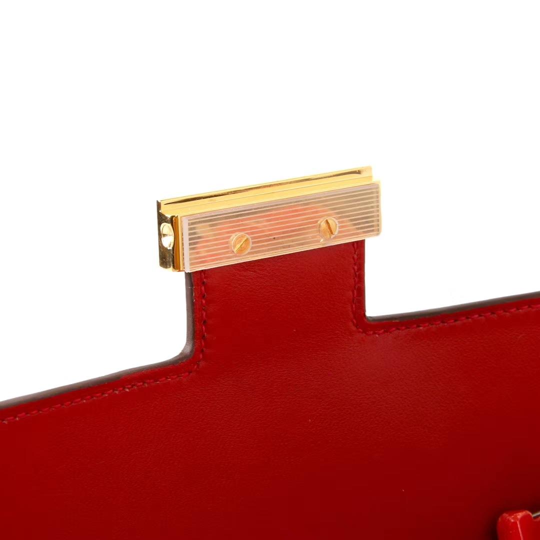 Hermès(爱马仕)Constace 空姐包 国旗红 epsom皮 金扣 23cm